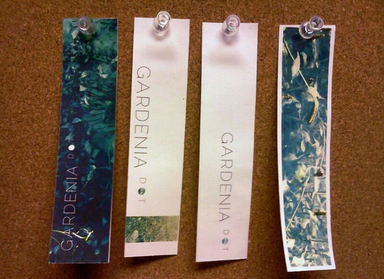 gardenias label